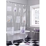 Maytex Quick Dry Mesh Pockets Waterproof PEVA Shower Curtain