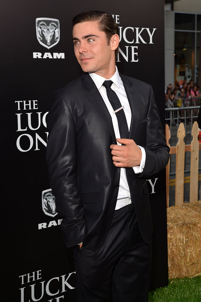 Zac Efron looked dapper at the Lucky One premiere in LA.