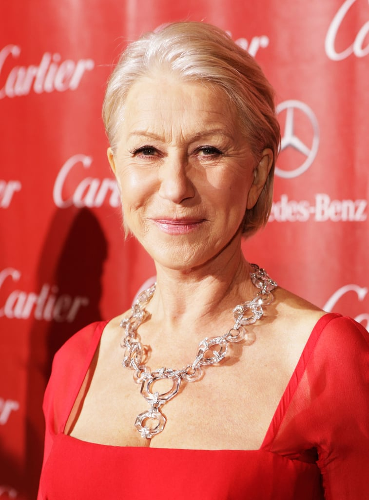 Helen Mirren dazzled in diamonds.