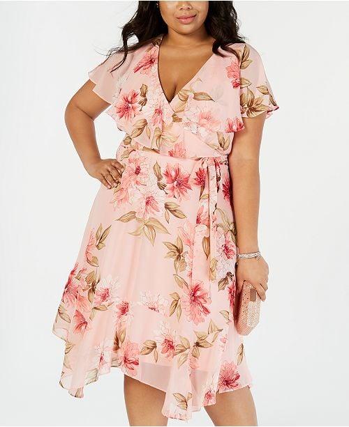 Jessica Howard Plus Size Floral Capelet Dress | Lauren Conrad Floral ...