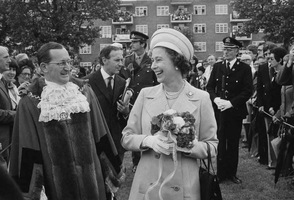 Queen Elizabeth II during a walkabout in Deptford.