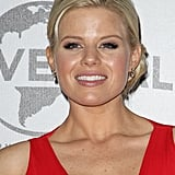 Megan Hilty wore red at the NBC after party.