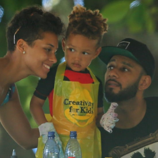 Alicia Keys in Hawaii For Son's Birthday