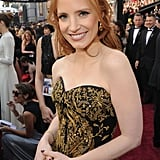 Jessica Chastain at the 2012 Oscars.