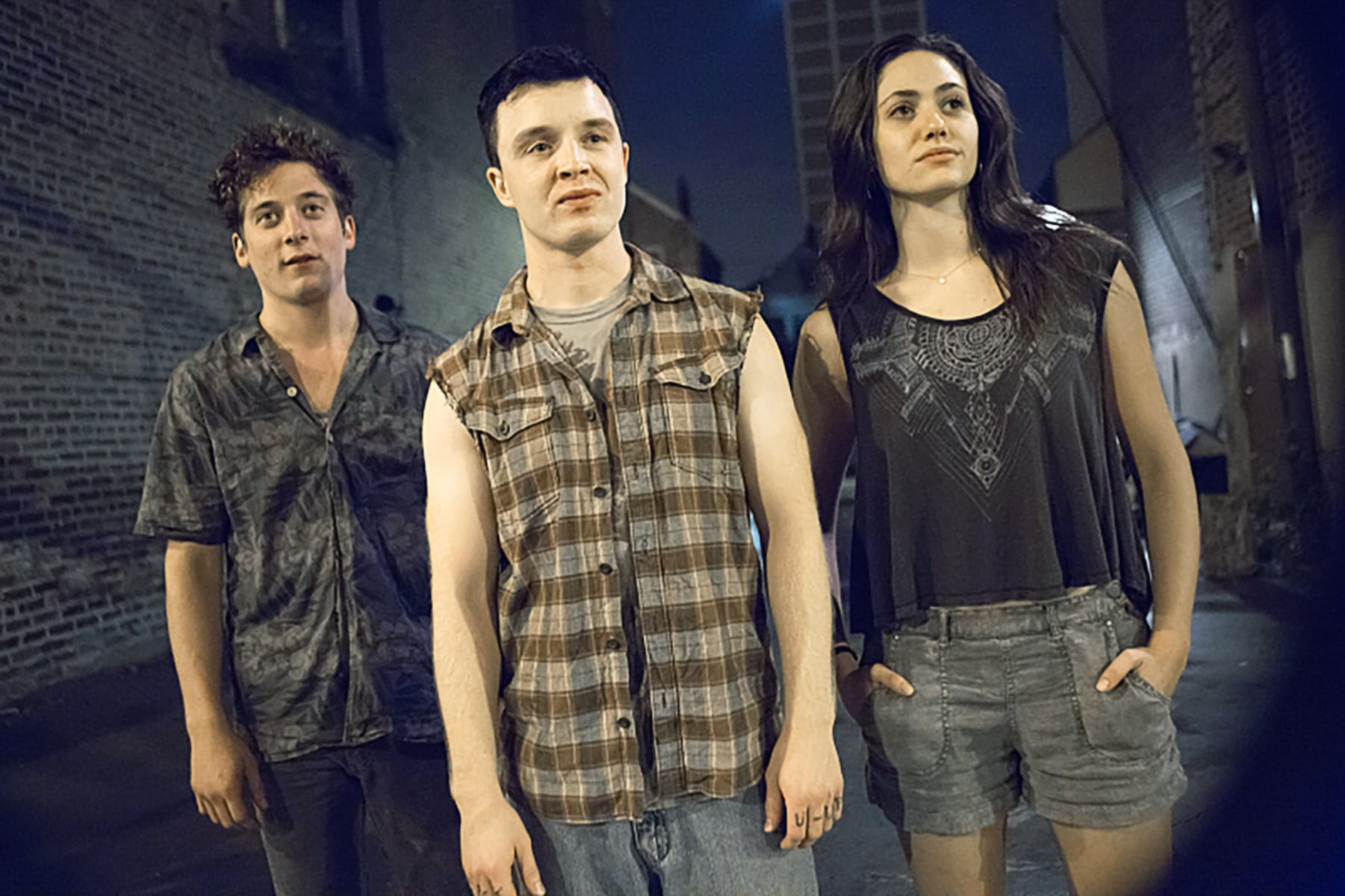SHAMELESS, l-r: Jeremy Allen White, Noel Fisher, Emmy Rossum in 'Milk of the Gods' (Season 5, Episode 1, aired January 11, 2015). ph: Chuck Hodes/Showtime/courtesy Everett Collection