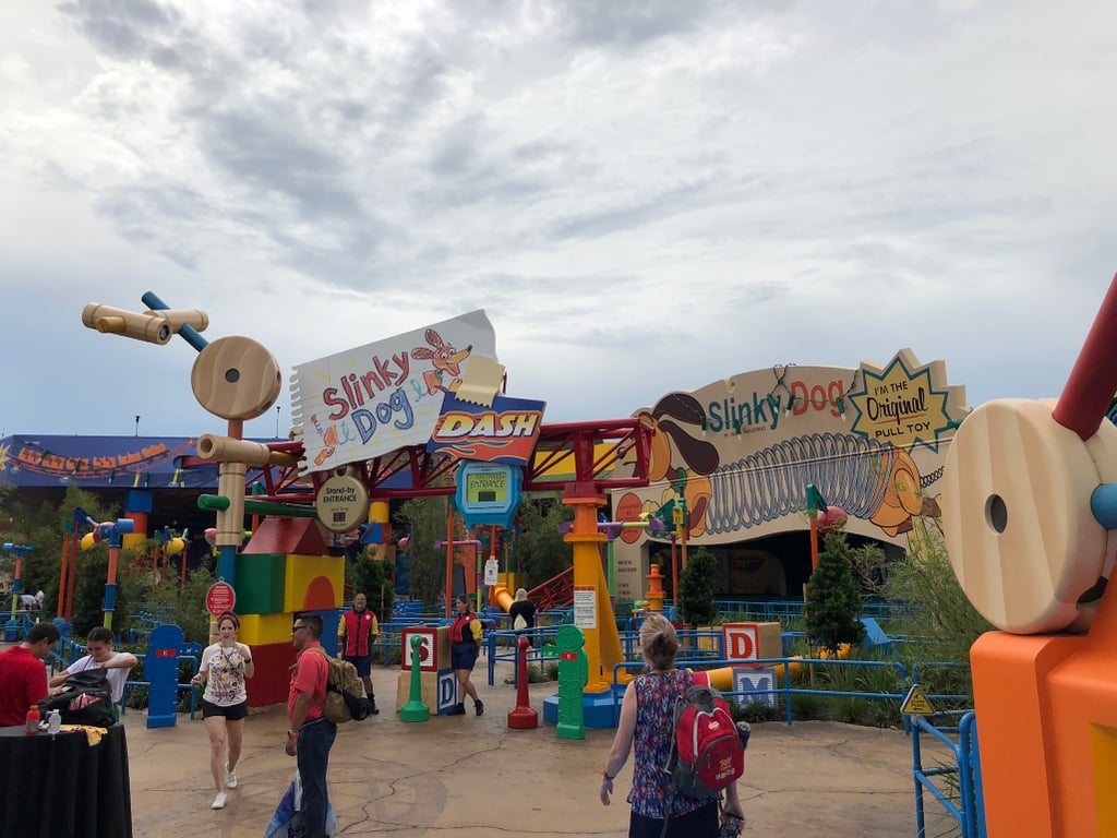 The entrance of Slinky Dog Dash.