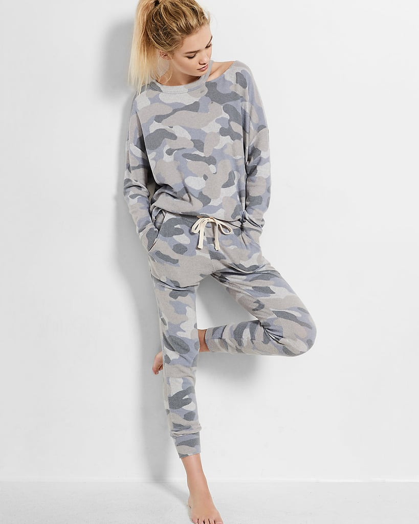 Express One Eleven Camo Sweatshirt ($60) and Pants ($60)