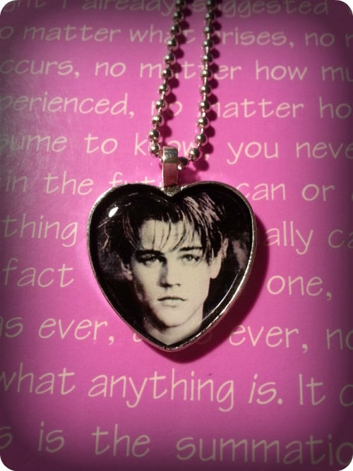 Leonardo DiCaprio Heart Necklace