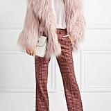 Miu Miu Oversize Faux Fur Coat — Lilac