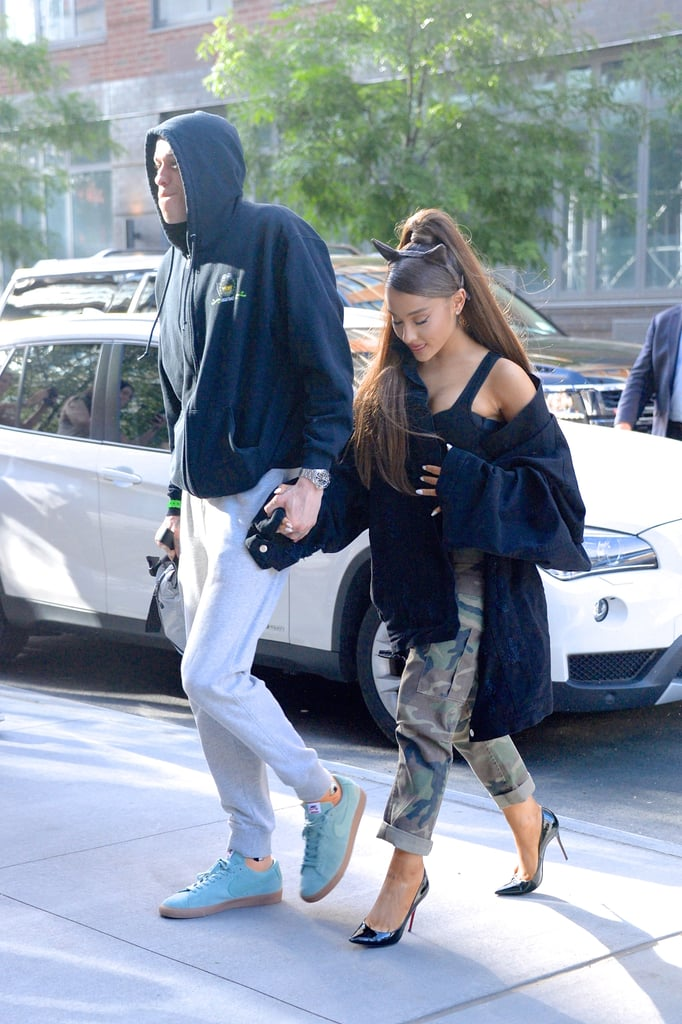 Ariana Grande and Pete Davidson continue to seal their love in ink. Over the weekend, fans noticed that the 25-year-old singer got what appears to be a tattoo in honor of Pete's late father, Scott Davidson, who passed away in the attacks on 9/11. Located on her foot, the tattoo is Scott's firefighter badge number, 8418, which Pete also has tattooed on his forearm. The seriousness of the touching tattoo is not entirely surprising given the rate at which the relationship has progressed, as well as their frequent and very public proclamations of their love. In and of itself, the tattoo is the kind of grand, laid-bare, heart-on-a-platter gesture one might make in the midst of an impassioned engagement. However, what if the tattoo were to bear a second significance? What if it also hints at their upcoming wedding date?      Related:                                                                                                           All the Photos Ariana Grande and Pete Davidson Have Shared Together — So Far               Though there are certainly fans out there who came to this same realization, I first noticed the theory in a Facebook group for the reality TV podcast Emotionally Broken Psychos. In a discussion about the tattoo, one group member suggested the couple might be planning to sweetly wed on the date corresponding to the badge number: Aug. 4, 2018. It's worth noting the date comes about two weeks before the release of Ariana's fourth album, Sweetener, on Aug. 17, and prior to the inevitable months of touring that will follow, which theoretically might leave little time to plan a wedding. Yes, this sounds extremely far-fetched, but it's not the craziest thing that could happen. In addition to their recent ink, the couple shares matching hand tattoos, and Pete also got two Ariana-inspired tattoos around the time of their engagement.