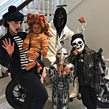 During Halloween, the brood debuted their costumes on Instagram in 2015.