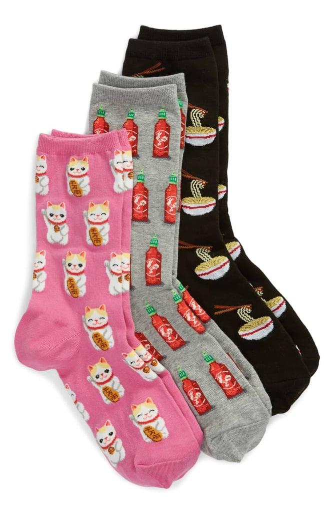Hot Sox 3-Pack Ramen Socks