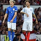 Niall Horan and Louis Tomlinson Have a Mini One Direction Reunion on the Soccer Field