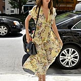 Miranda Kerr got Summer street style just so right in a breezy, floral-print maxi while out in NYC.