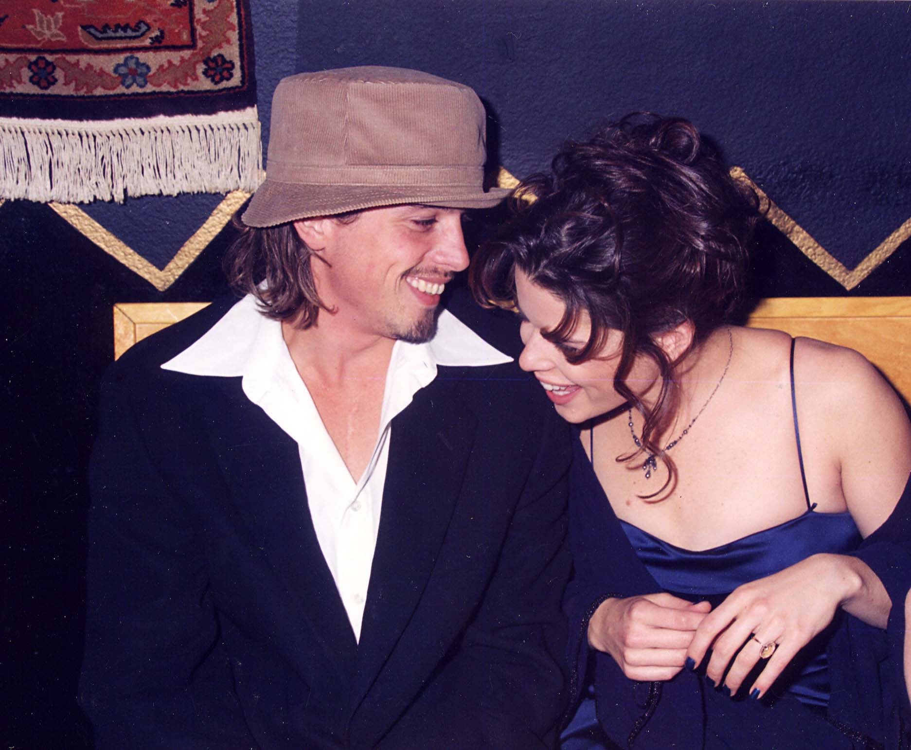 When he was palling around with Neve at the Scream premiere. | 31 Sexy  Pictures For Anyone Who Is Mildly Obsessed With Skeet Ulrich