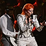 Lady Gaga Mastered David Bowie's Iconic Beauty Look at the Grammys