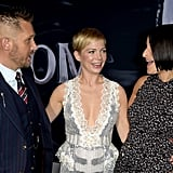 Pictured: Tom Hardy, Michelle Williams, and Jenny Slate