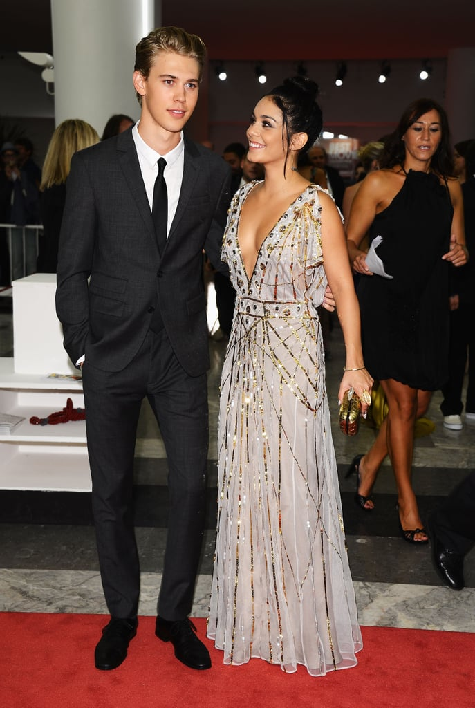 Vanessa couldn't get enough of her handsome man while posing for photos at the premiere of Spring Breakers at the Venice Film Festival in September 2012.