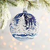 Olde World Blue Relief Tree Ornament