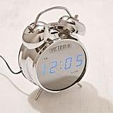 Victrola Retro Chrome Digital Alarm Clock
