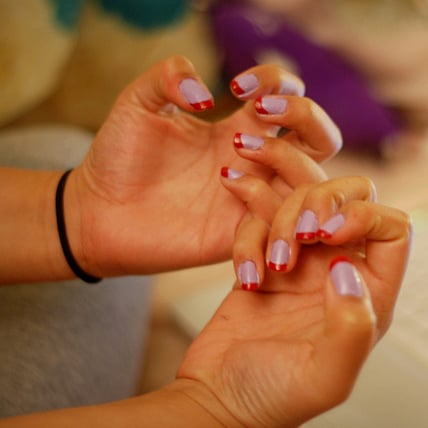 how to make french manicure strips at home