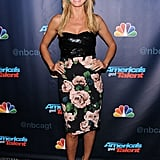 Heidi Klum showed her flower power for the America's Got Talent postshow.