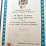 Kate Middleton's Handwriting Pictures