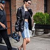 23a1cede8d01 Kendall went peak '90s in May 2018, wearing her Prada piece with a ...