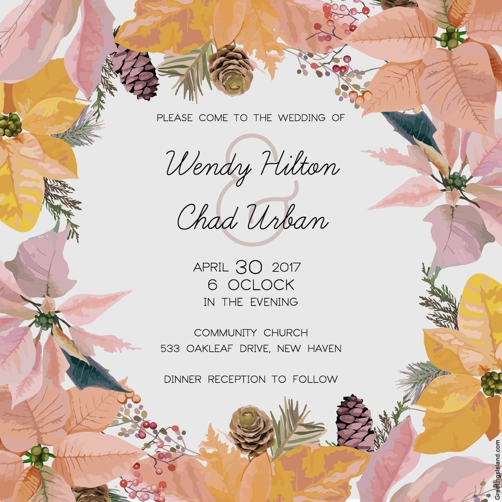 Free Printable Wedding Invitations POPSUGAR Smart Living - Wedding invitation templates: winter wedding invitation templates free