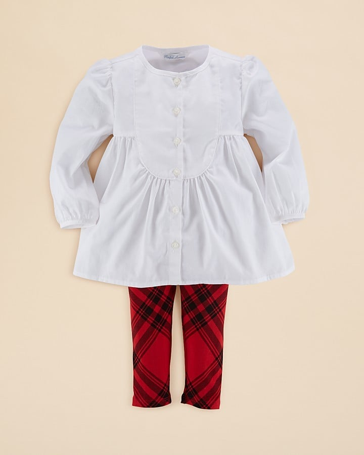 Ralph Lauren Solid Tunic & Plaid Leggings Set