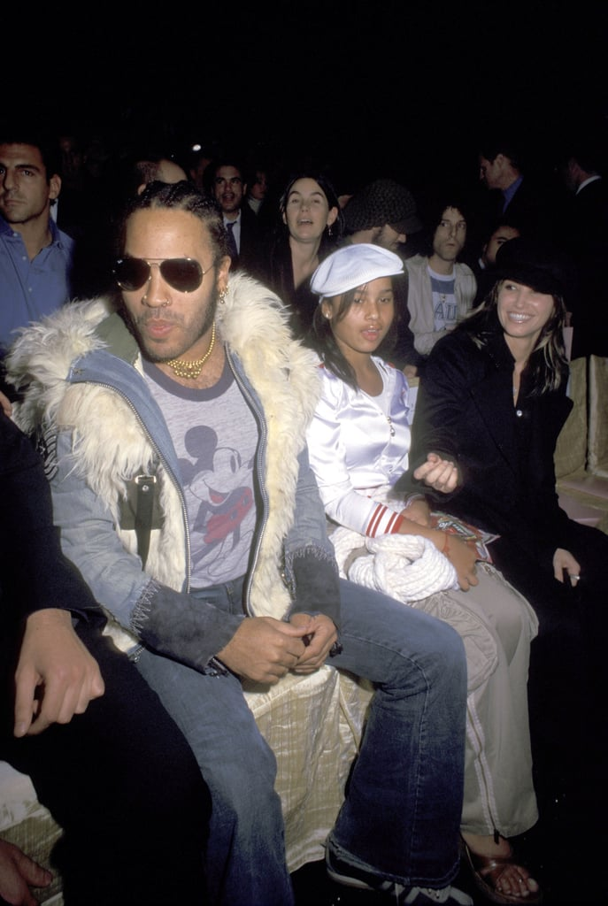 Lenny Kravitz and a young Zoe Kravitz took in the 2002 show.