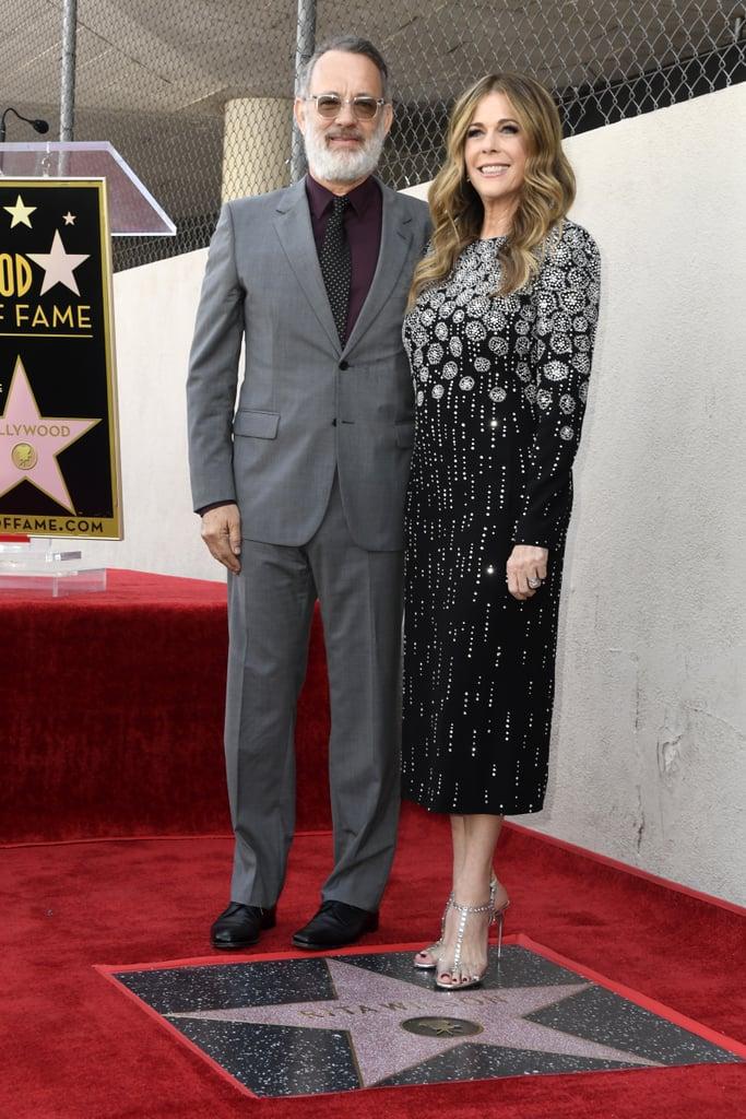 Rita Wilson and Tom Hanks at Walk of Fame Ceremony 2019 ...