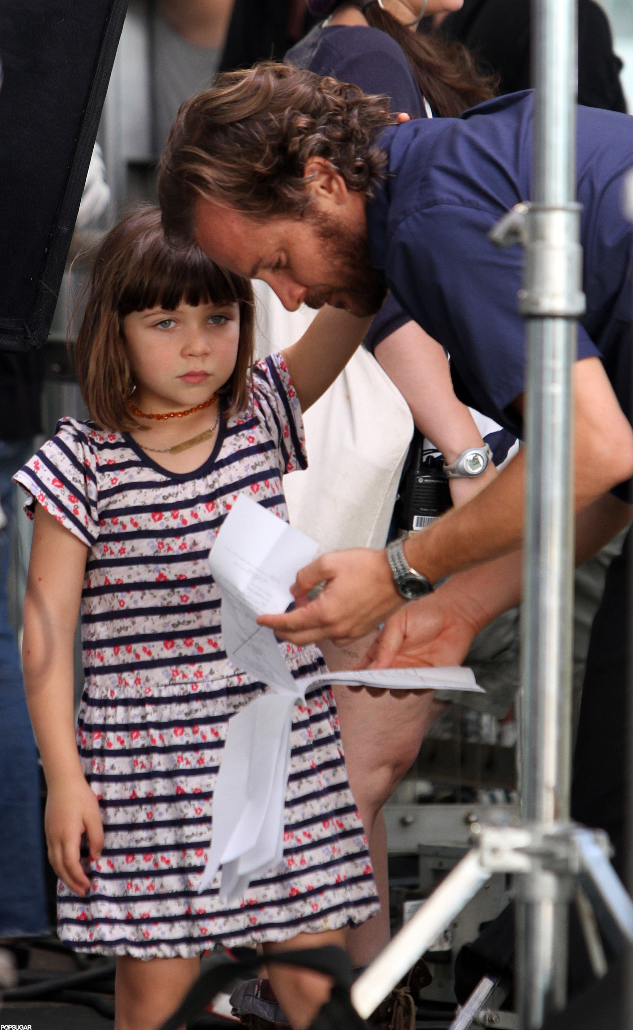 Dad Peter Sarsgaard spent time with Ramona on set in NYC.