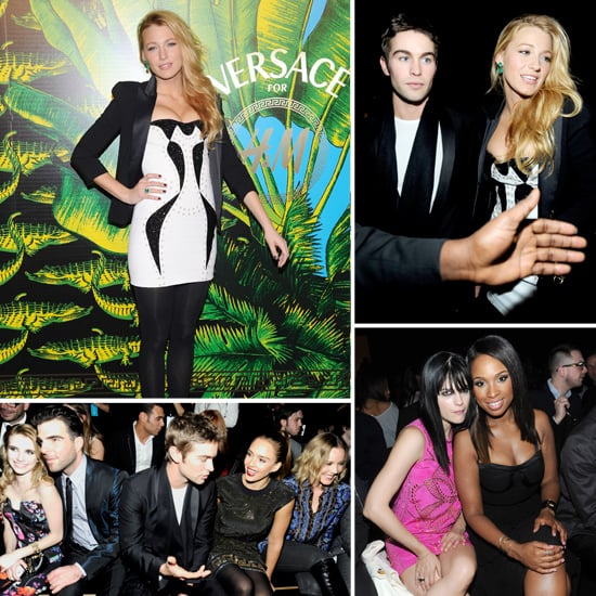 Blake Lively Jessica Alba Pictures at NY Versace For H+M Party