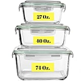 Extra Large Glass Food Storage Containers With Airtight Lids