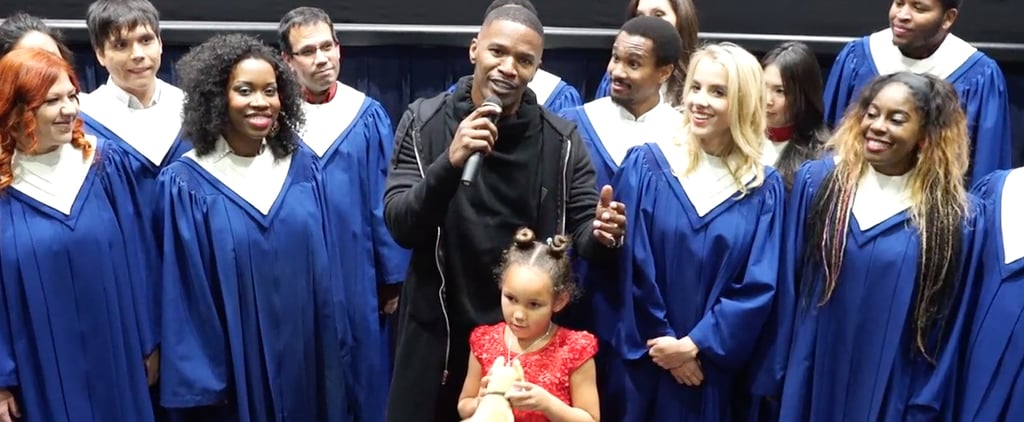 Exclusive: Jamie Foxx Surprises Movie Audience With a Special Message For His Annie Costar