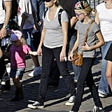 Reese Witherspoon and Ava at Disneyland.