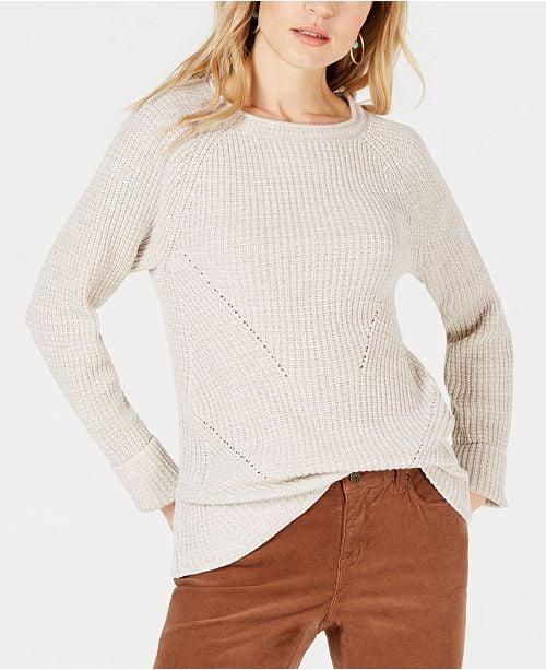 Style & Co Crewneck Marled Sweater