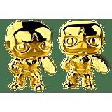 Chrome Gold Captain America Funko Pop