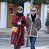 Anne Hathaway and Adam Shulman took a New Year's walk.