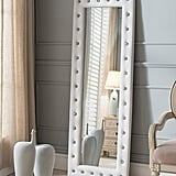 Modern Upholstered Tufted Standing Floor Mirror