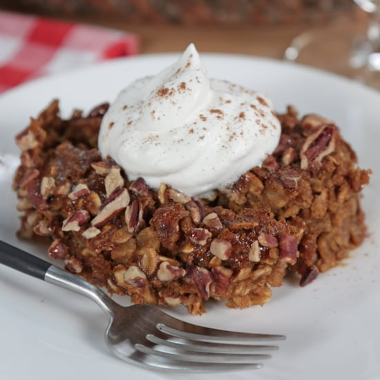 Overnight Pumpkin Pie Baked Oatmeal