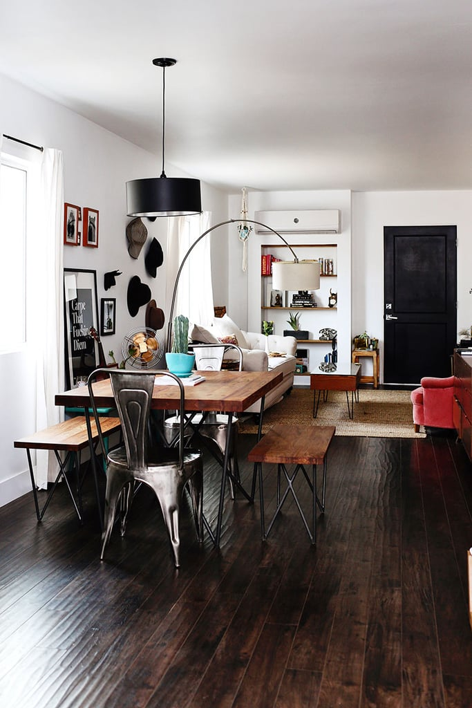 Modern Bohemian Home With Black and White Decor