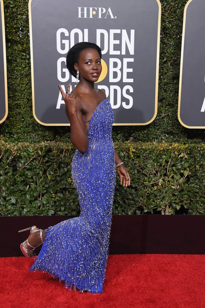 Lupita Showing Off Her Heels on the Red Carpet