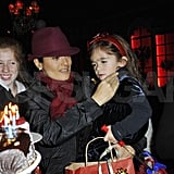 Pictures of Salma and Valentina With Santa