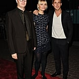 Ryan Gosling had his arm around Liv Corfixen for a picture with Nicolas Winding Refn.