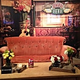 Visitors can sit on the famed orange couch for photos (and pure nostalgic ecstasy).