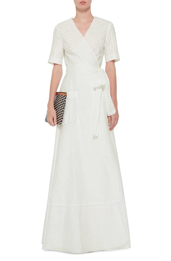 Brock Collection Daria Cotton Eyelet Wrap Maxi Dress ($2,500)