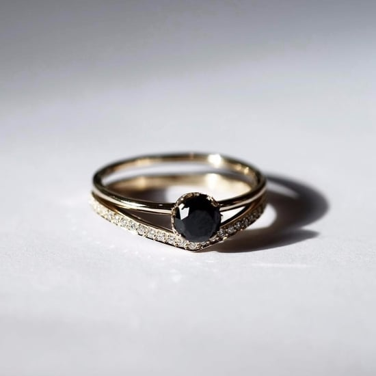 Black Stone Engagement Rings