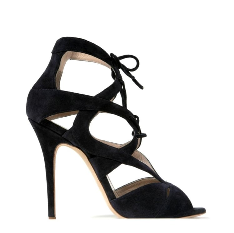 Monique Lhuillier Ink Suede Sandal ($895)